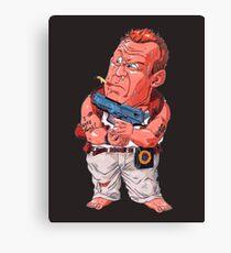 John McClane (Bruce Willis) - Akira Toriyama style Canvas Print