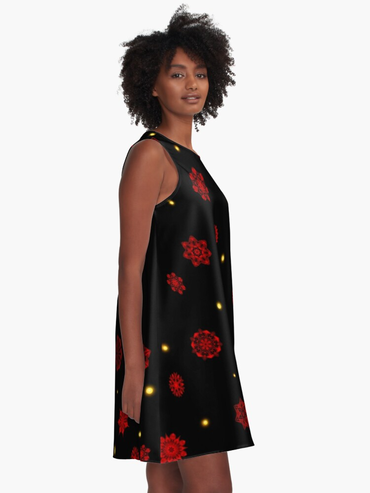 Alternate view of Fire in the Night A-Line Dress