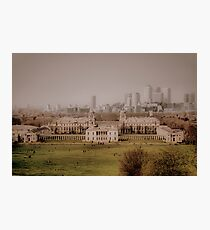 Greenwich to Canary Wharf Photographic Print