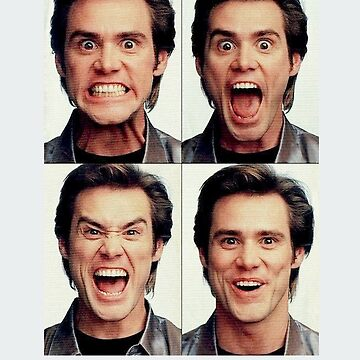 Jim Carrey faces in color by nostalgicboy