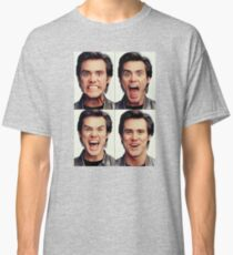 Jim Carrey faces in color Classic T-Shirt