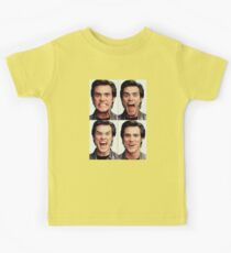 Jim Carrey faces in color Kids Tee