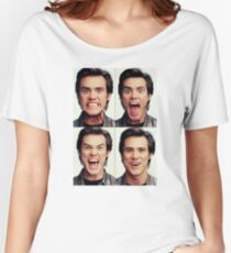Jim Carrey faces in color Women's Relaxed Fit T-Shirt