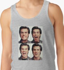 Jim Carrey faces in color Tank Top