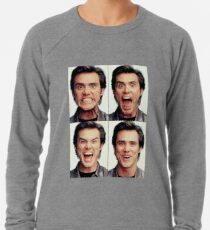 Jim Carrey faces in color Leichter Pullover