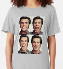 Jim Carrey faces in color Slim Fit T-Shirt