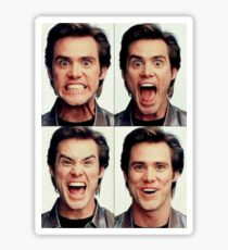 Jim Carrey faces in color Sticker