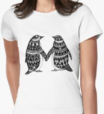 Penguin Couple Women's Fitted T-Shirt