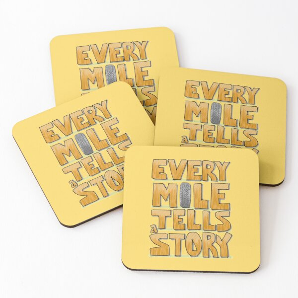 Tire in the Mile Coasters (Set of 4)