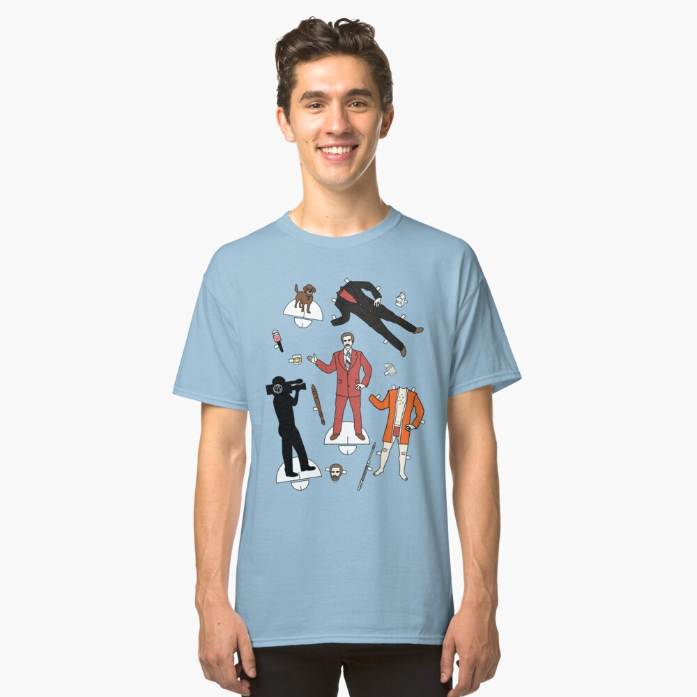 Cut It Out: Ron Burgundy Classic T-Shirt Front