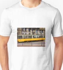 Vintage tram in Milano, ITALY Unisex T-Shirt