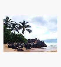 First stop on Maui Photographic Print