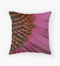 Echinacea Macro Throw Pillow