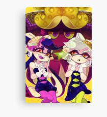Splatoon - Squid Sisters & Dj Octavio Canvas Print