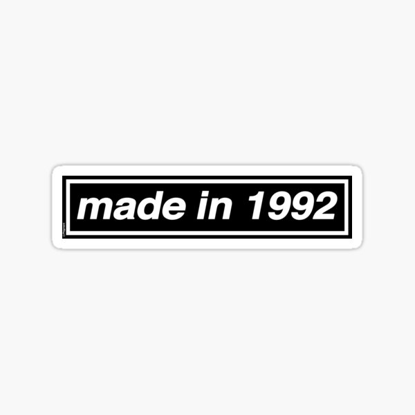 Made in 1992 - OASIS Band Tribute Sticker