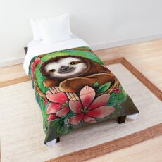 Neo Traditional Sloth Comforter