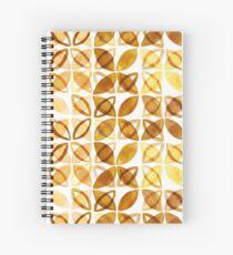 70's Watercolor Pattern - Mustard  Spiral Notebook
