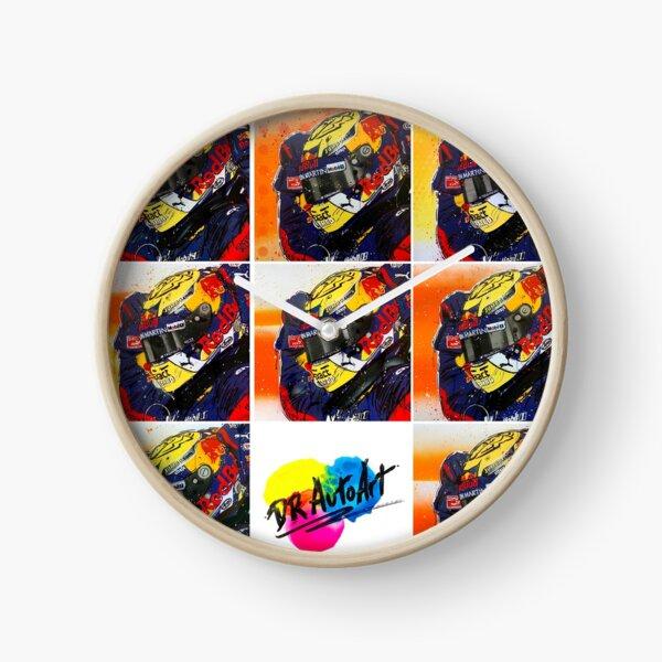 Max Verstappen F1 graffiti painting collage by DRAutoArt Clock