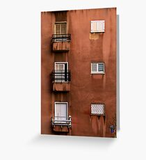 Building Facade Greeting Card