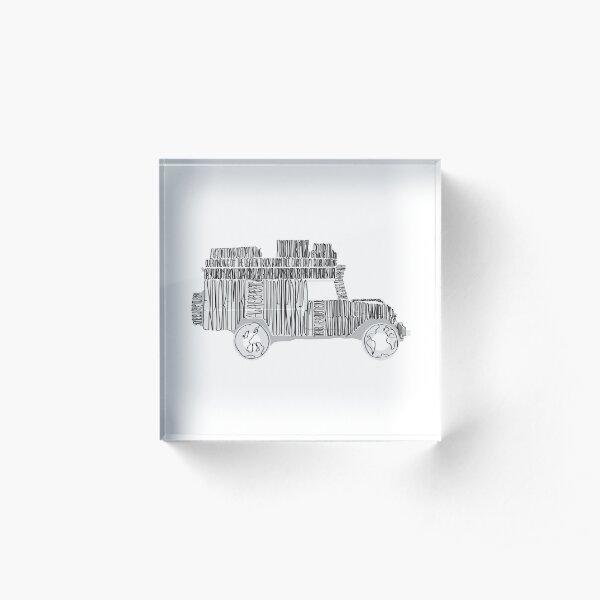 Artsy Sketchy Acrylic Block