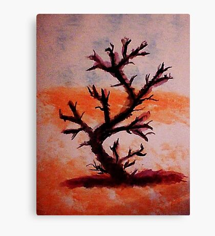 Too Late, Poor Thing, watercolor Canvas Print