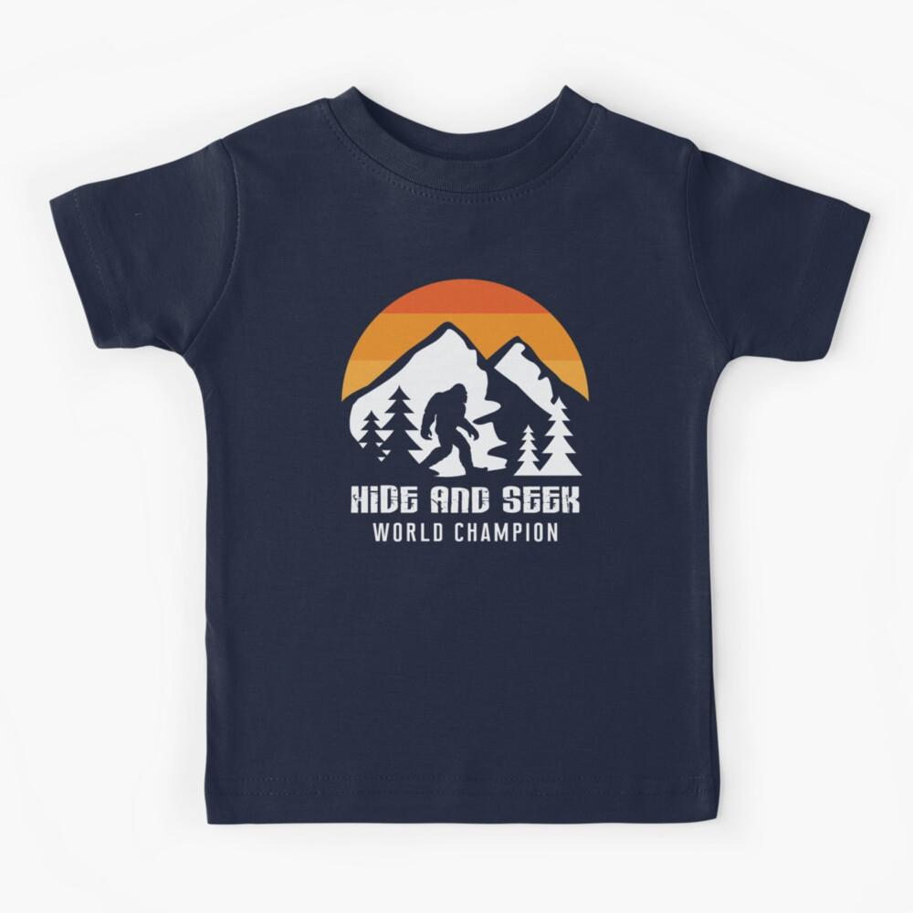 Retro Hide And Seek World Champion Bigfoot T-Shirt & Gift Kids T-Shirt