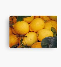 Lemony Basket Canvas Print