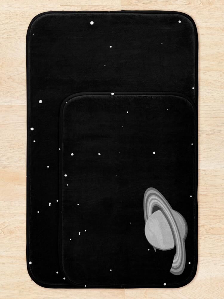 Alternate view of Black and White Saturn Bath Mat