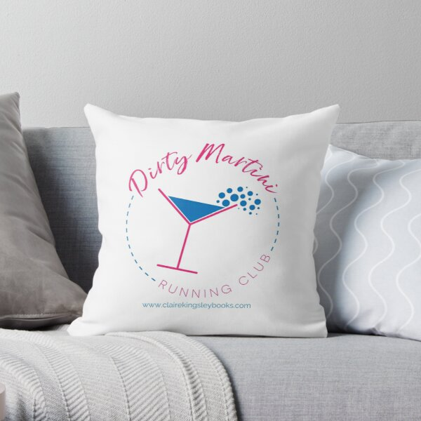 Dirty Martini Running Club Throw Pillow