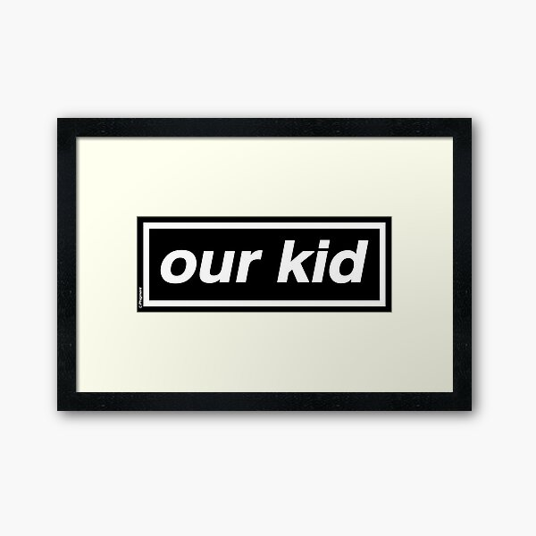 Our Kid - OASIS Band Tribute [Pink Background] Framed Art Print