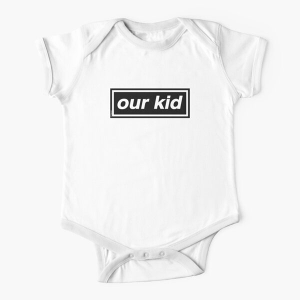 Our Kid - OASIS Band Tribute [Baby Blue Background] Short Sleeve Baby One-Piece