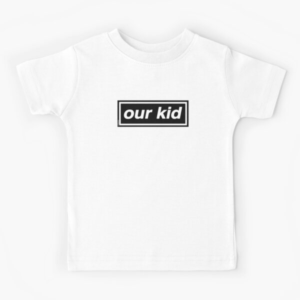 Our Kid - OASIS Band Tribute [Red Background] Kids T-Shirt