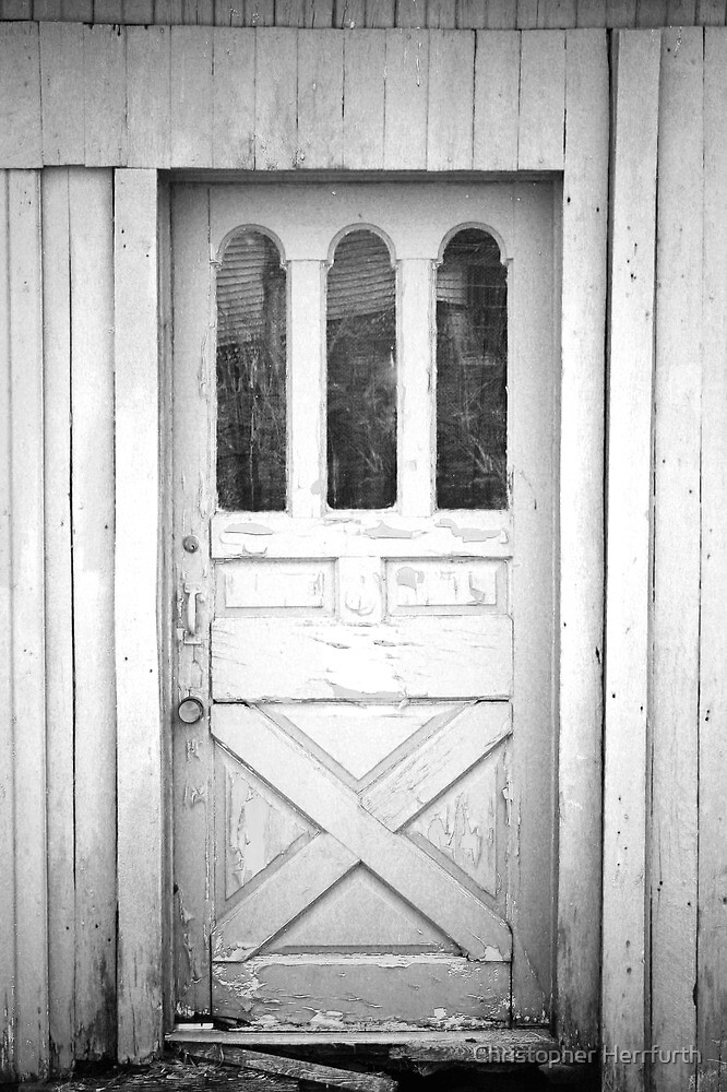 Quot Spooky Old Door Quot By Christopher Herrfurth Redbubble
