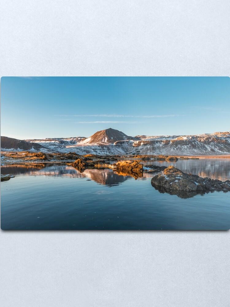 Alternate view of Winter landscape in Iceland II Metal Print