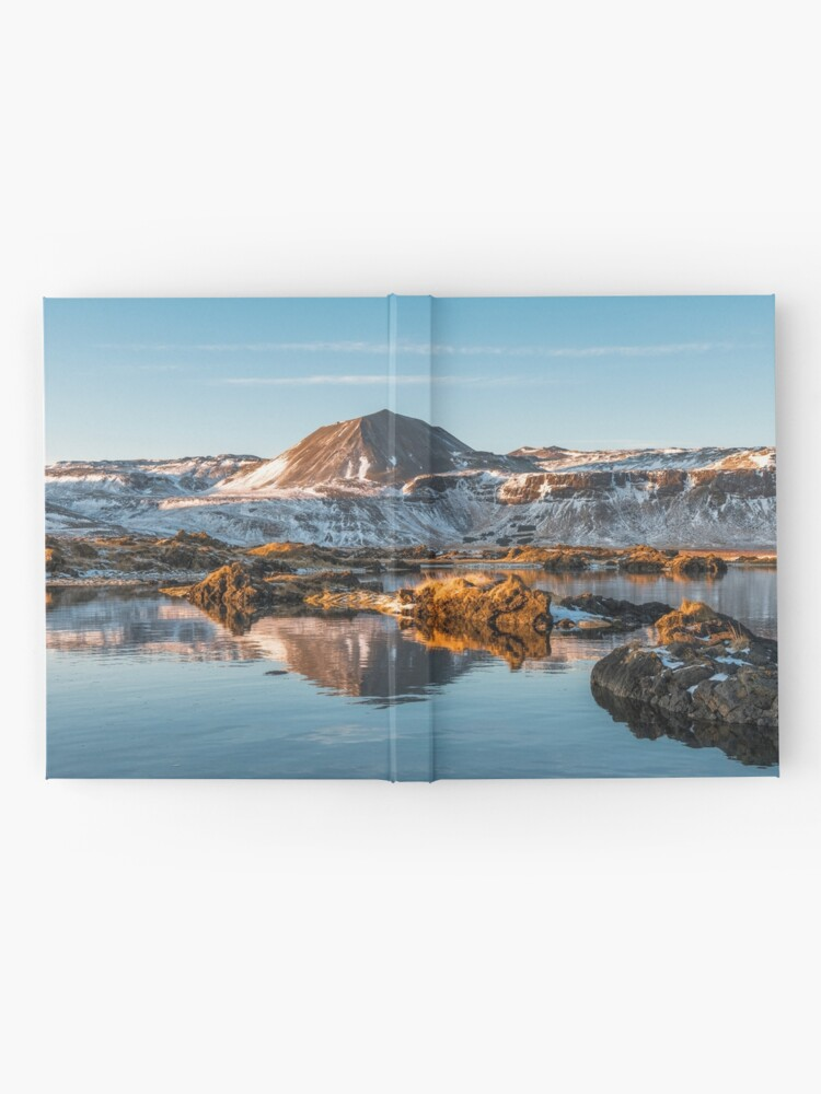 Alternate view of Winter landscape in Iceland II Hardcover Journal