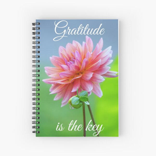 Gratitude is the key  Spiral Notebook