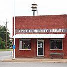 Erick, Oklahoma - Public Library by Frank Romeo