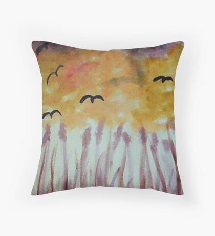 Growing #2 from a series, watercolor Throw Pillow