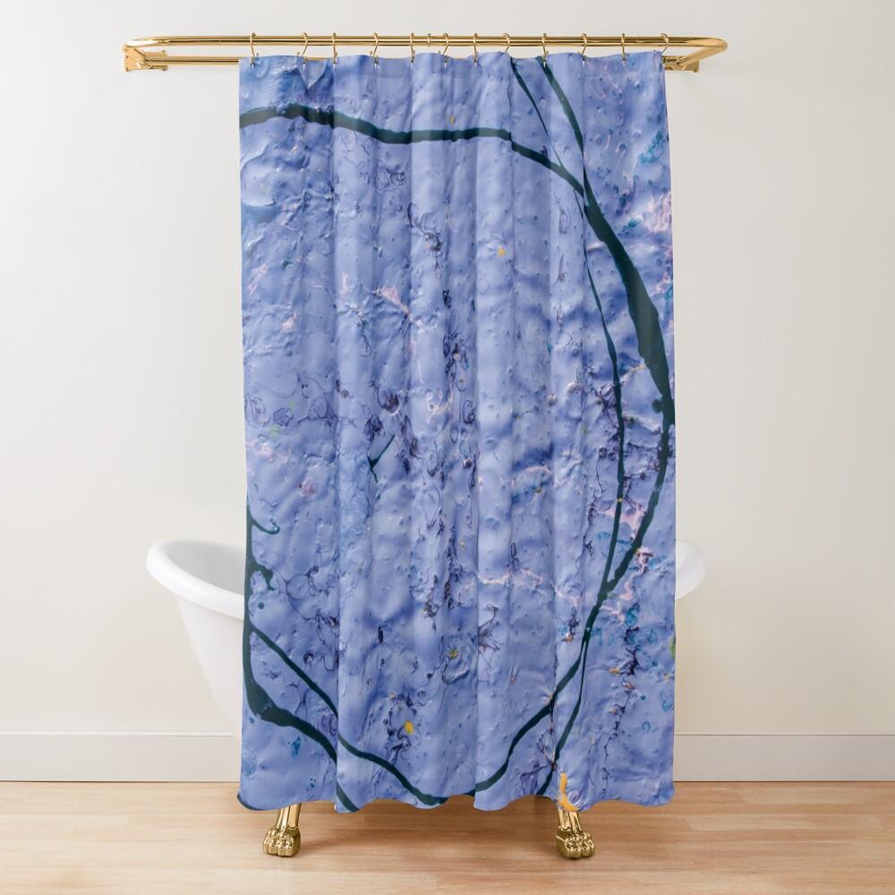 indigo rough texture Shower Curtain