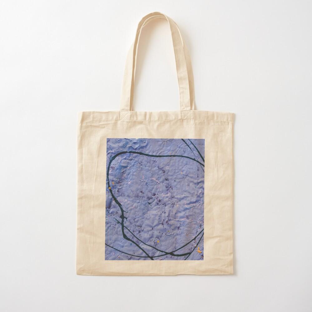 indigo rough texture Cotton Tote Bag