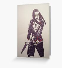 Heavy Metal Chick # 2 Greeting Card