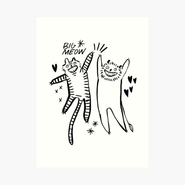 Big Meow Art Print
