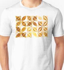70's Watercolor Pattern - Mustard  Slim Fit T-Shirt