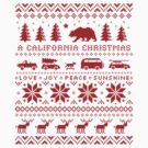 California Christmas Pattern by Jenn Inashvili