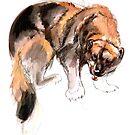 «Gulo gulo Watercolor #2» de belettelepink