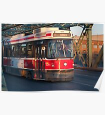 Streetcar 501 On The Queen Street Bridge Poster