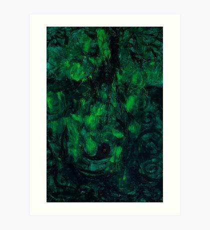 Deep Green Thoughts  Art Print