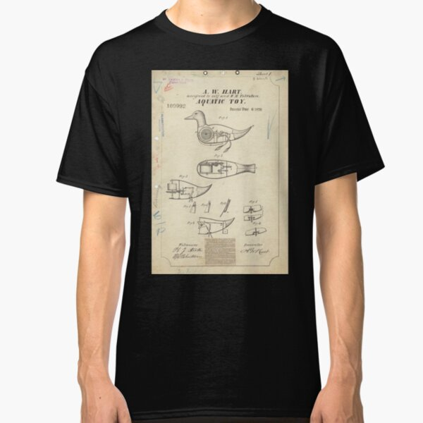 Vintage Duck Toy Patent Drawing Classic T-Shirt