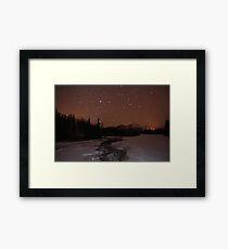 Light pollution Framed Print