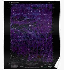 USGS Topo Map Oregon Mt Pisgah 280872 1966 24000 Inverted Poster